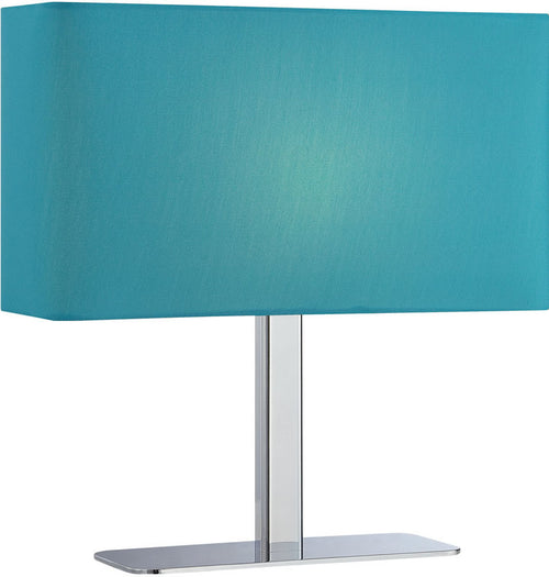 Lite Source Levon 1-Light Table Lamp Chrome/Blue LS21797CBLU