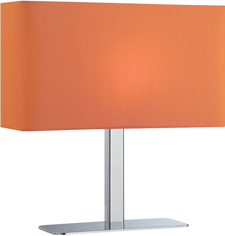 "15""H Levon 1-Light G Table Lamp Chrome/Orange"