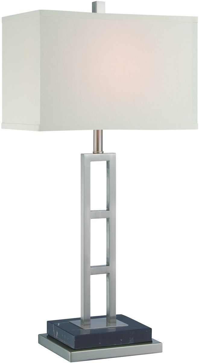 Lexine 1-Light Fluorescent Table Lamp Polished Steel