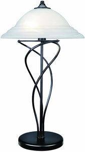 "29""h Majesty Table Lamp Black"