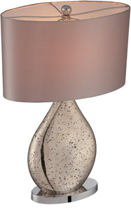 Lite Source Mandalay 1-Light Table Lamps Gold Glass Body LS22711