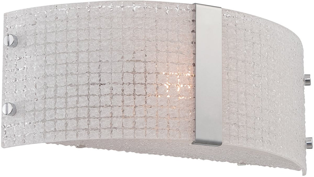 "12""W Maso 1-Light Wall Sconce Chrome"