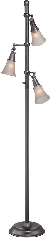 "Mercede 69""H 3-Light Tree Floor Lamp Amber"