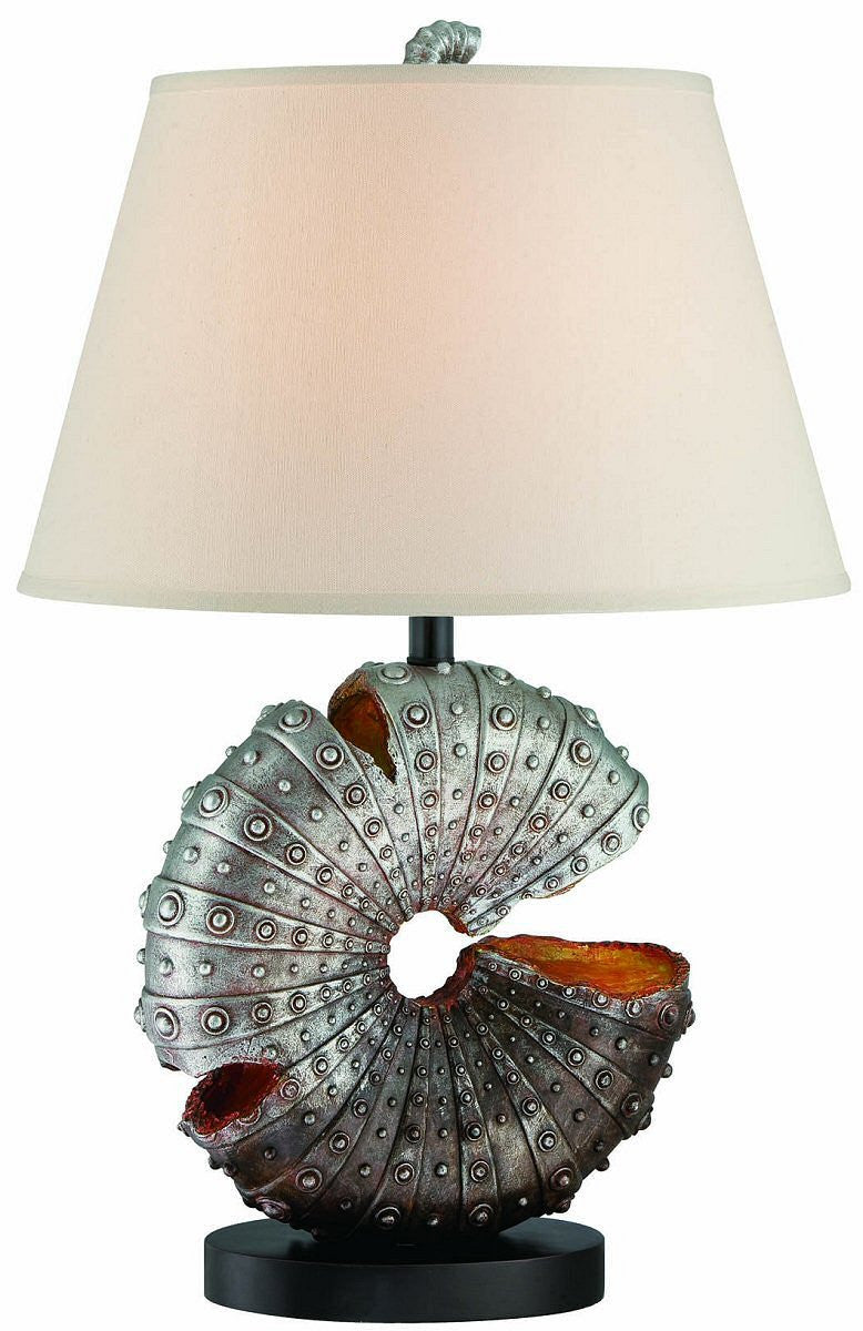 "28""H Nautilus 1-Light Table Lamp Aged Silver"