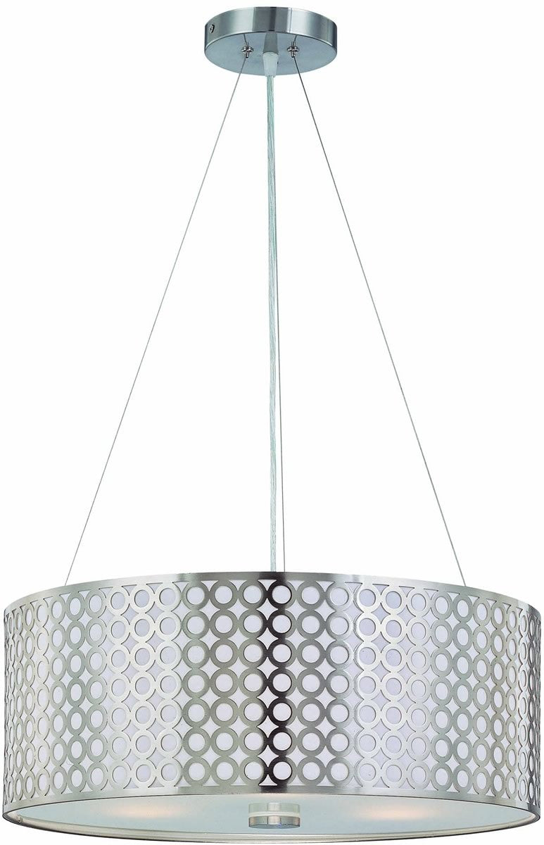 Netto 3-Light Pendant Polished Steel