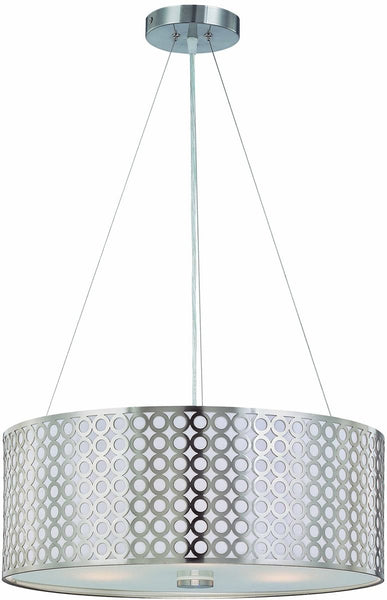 Lite Source Netto 3-Light Pendant Polished Steel LS19519PS