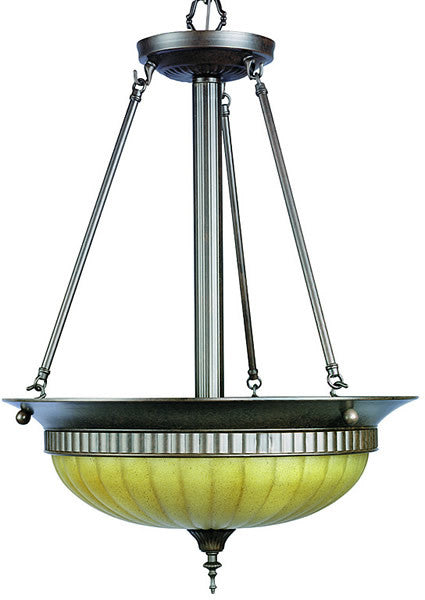 "31""w Mercury 3-Light Ceiling Fixture Antique Bronze"