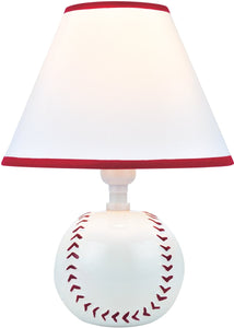 Lite Source Pitch Me 1-Light Fluorescent Table Lamp Baseball Ceramic IK6101