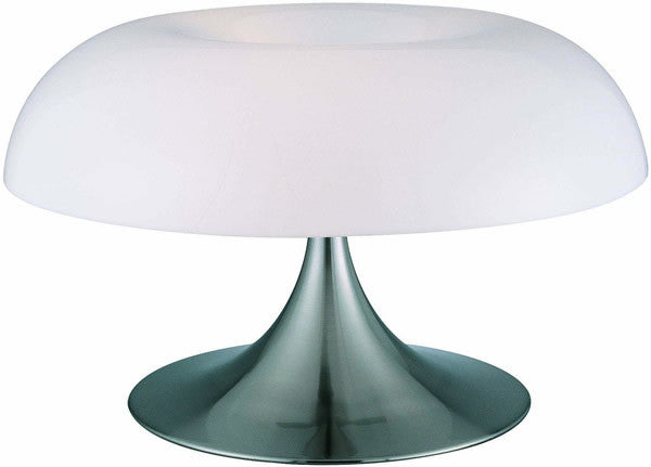 "12""h Pliant Table Lamp Polished Steel"