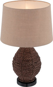 Lite Source Pouria 1-Light Table Lamps Dark Brown LS22750