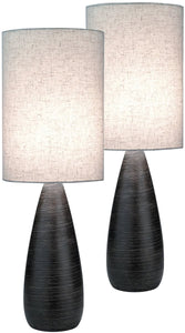 Quatro II 2-Light Set of 2 Table Lamp Brushed Dark Bronze