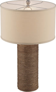 Lite Source Rhoslyn 1 Light Table Lamp Natural Rope Ls22553