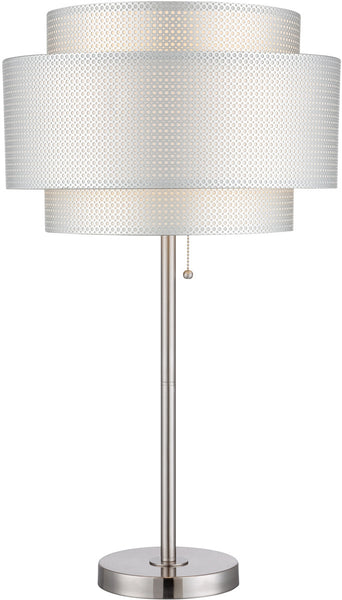 Lite Source Sebille 1-Light Table Lamp Polished Silver LS22305