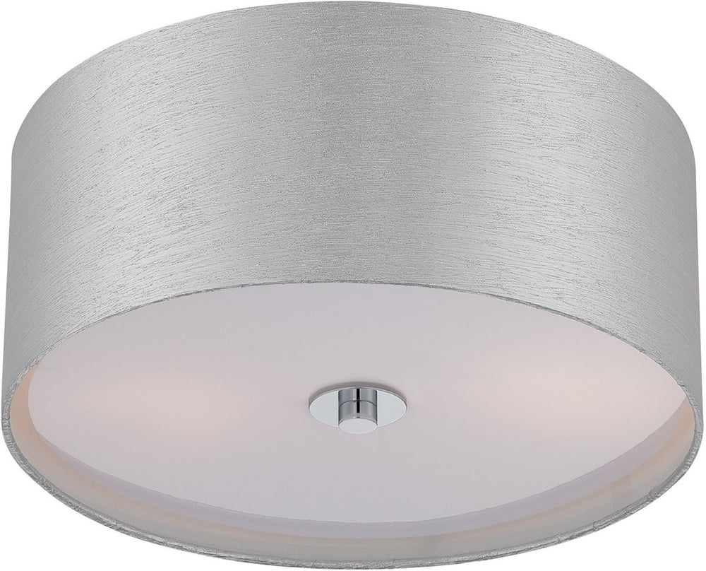 "14""W Silvain 2-Light Flush Mount Chrome"