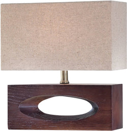 Lite Source Pierre Fluorescent Table Lamp Dark Walnut LS21618