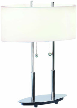 "18""H Bliss Table Lamp Polished Steel"
