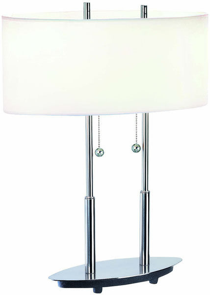 Lite Source Bliss Table Lamp Polished Steel LS3821PSWHT