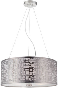 Lite Source Torre 3-Light Pendant Lamp Polished Silver LS19174PS