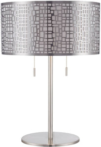 "22""h Torre 2-Light Table Lamp Polished Silver"