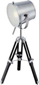 "31""h Trey 1-Light Table Tripod Lamp Chrome"