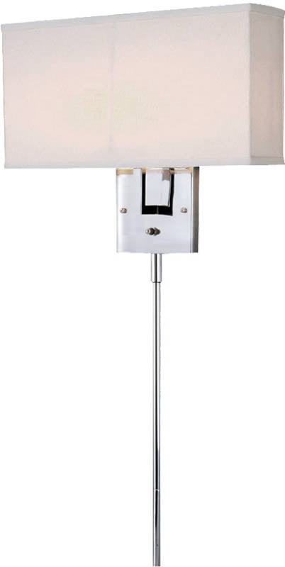"14""W 2-Light Wall Lamp Chrome"