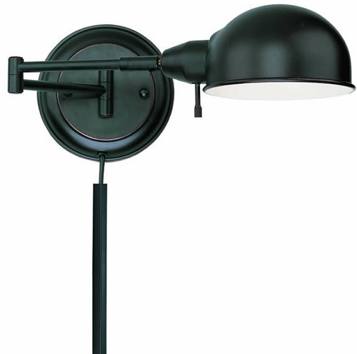 Lite Source Rizzo Swing-Arm Wall Lamp Aged Copper LS16753AGEDCP