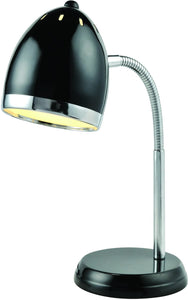 Lite Source Zachary 1-Light Fluorescent Desk Lamp Black/Chrome LS22311BLK