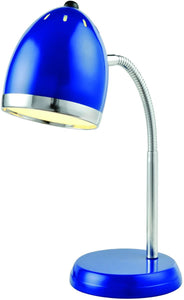 Lite Source Zachary 1-Light Fluorescent Desk Lamp Chrome/Blue LS22311BLU