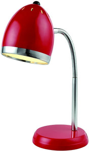 Lite Source Zachary 1-Light Fluorescent Desk Lamp Chrome LS22311RED
