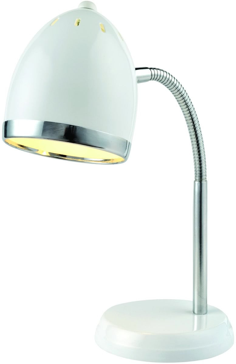 Zachary 1 Light Fluorescent Desk Lamp White/Chrome