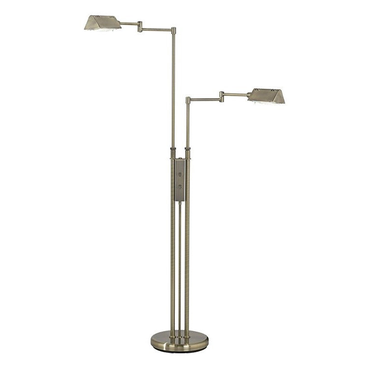 Lite source pharma halogen twin arm floor lamp antique ls 974ab pharma halogen twin arm floor lamp antique brass aloadofball Gallery