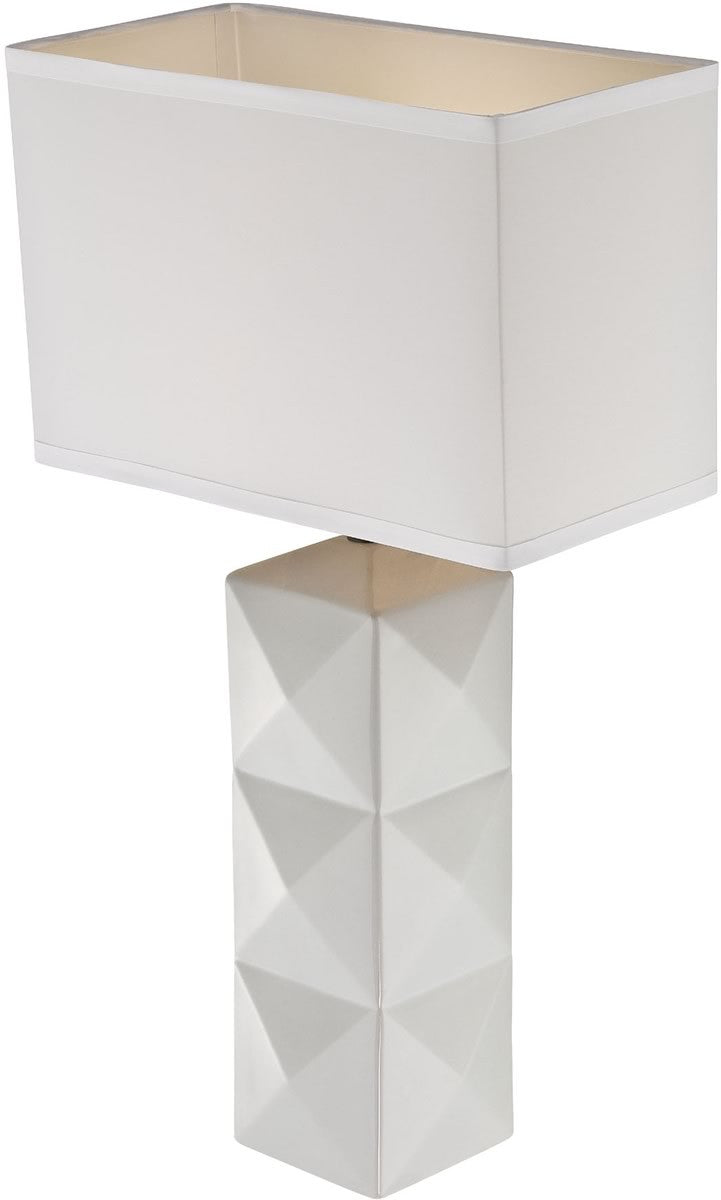 "28""h Robena 1-Light Table Lamp White"