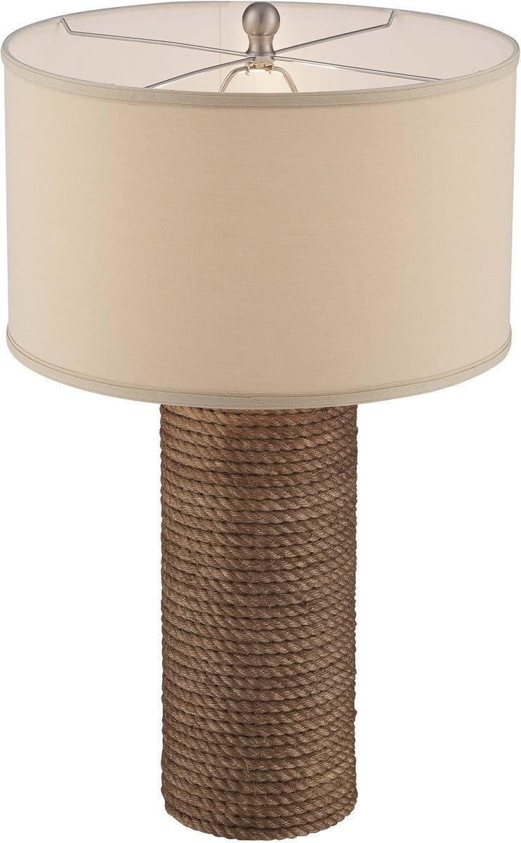 "29""H Rhoslyn 1-Light Table Lamp Natural Rope"