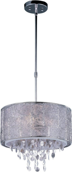 "16""w Allure 5-Light Pendant Polished Nickel"