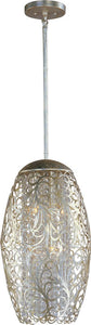 "13""w Arabesque 6-Light Pendant Golden Silver"