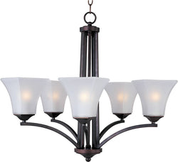 "26""w Aurora 5-Light Chandelier Oil Rubbed Bronze"