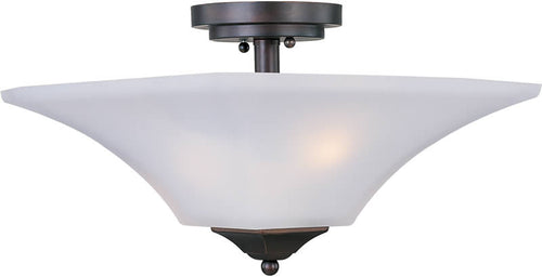 "13""w Aurora 2-Light Semi-Flush Mount Oil Rubbed Bronze"