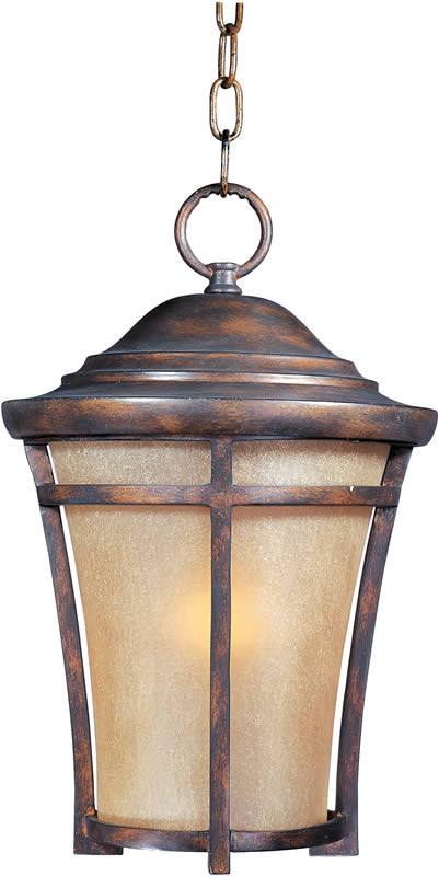 "12""W Balboa Vivex 1-Light Outdoor Hanging Lantern Copper Oxide"