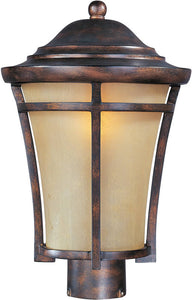 "16""h Balboa Vivex 1-Light Outdoor Pole/Post Mount Copper Oxide"