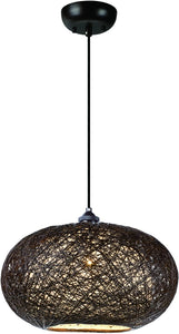 Maxim Bali 1-Light Chandelier Chocolate 14402CHWT