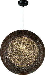 Maxim Bali 1-Light Chandelier Chocolate 14405CHWT
