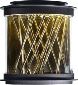 Maxim Bedazzle LED Outdoor Wall Lantern Galaxy Bronze / French Gold 53495CLGBZFG