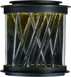 Maxim Bedazzle LED Outdoor Wall Lantern Texture Ebony / Polished Chrome 53495CLTEPC