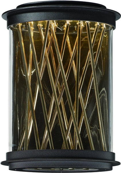 Maxim Bedazzle LED Outdoor Wall Lantern Galaxy Bronze / French Gold 53497CLGBZFG