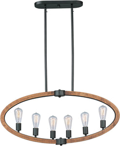 Maxim Bodega Bay 6-Light Pendant Anthracite 20913APAR
