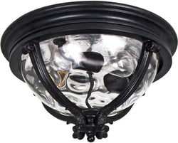 "16""w Camden VX 3-Light Outdoor Ceiling Mount Black"