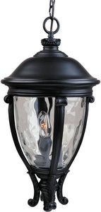 "13""w Camden Vivex 3-Light Outdoor Hanging Lantern Black"