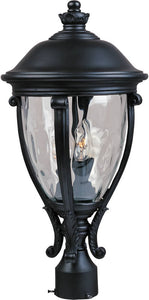 "23""h Camden Vivex 3-Light Outdoor Pole/Post Mount Black"