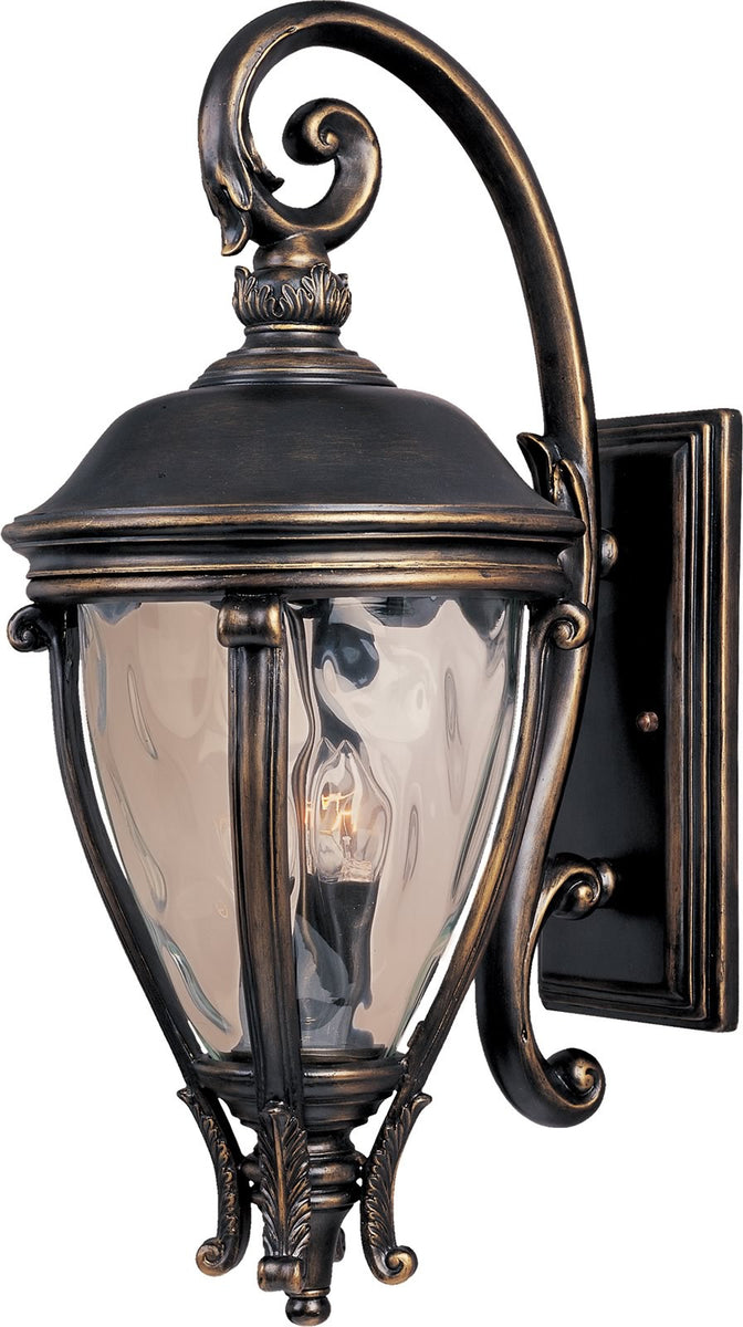 "29""H Camden VX 3-Light Outdoor Wall Mount Golden Bronze"