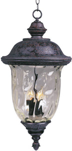 "13""w Carriage House Die-Cast Aluminum 3-Light Outdoor Hanging Lantern Oriental Bronze"